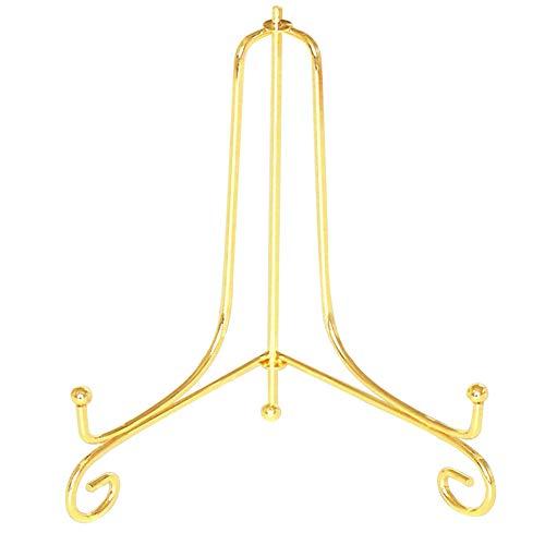 IJzeren Display Stand sel Plate Rack voetstuk Photo Holder Art Picture Frames Kookboeken Bowl Thuis Tabletten Picture Dish Decoratief(4inchGold)