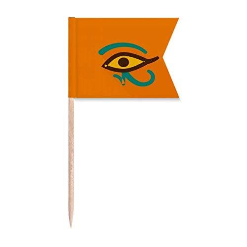 """Beauty Gift Antikes Ã""""gypten Abstraktes Augenmuster Markierung für die Kennzeichnung von Zahnstocher-Flaggen"""