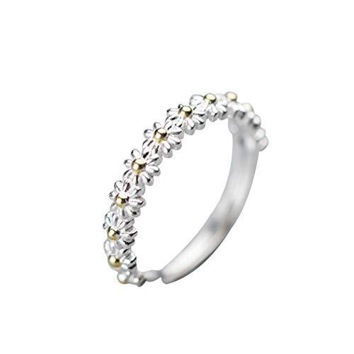 Aprimay Featured - Anello a forma di margherita, con anello regolabile a due toni, decorazione giornaliera