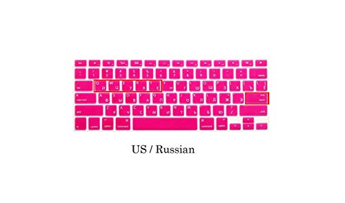 EU US Soft Silikon kompatibel für MacBook Pro 13 15 CD ROM Keyboard Cover Russian Cover Compatible for MacBook Pro 13 15 A1278 A1286 Russia Keyboard US Russland Rose