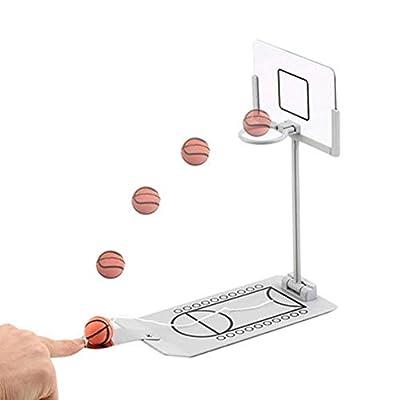 Outtybrave Mini Pliable Dessus de Table à Ressorts Jeu de Basket de Bureau Toy-Indoor Outdoor Fun Sports Jeu Insolite ou idée de Cadeau Gag