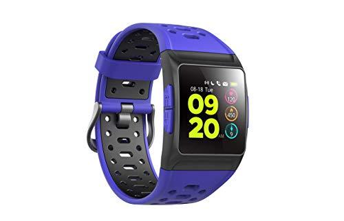 SPC Smartee Stamina - Smartwatch (GPS/Glomass, multideporte, notificaciones, podómetro, pulsómetro y monitor de sueño) – Color Azul
