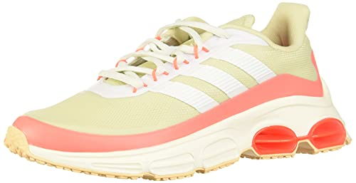 adidas QUADCUBE, Zapatillas de Running Mujer, FTWR White/FTWR White/Signal Coral, 37 1/3 EU