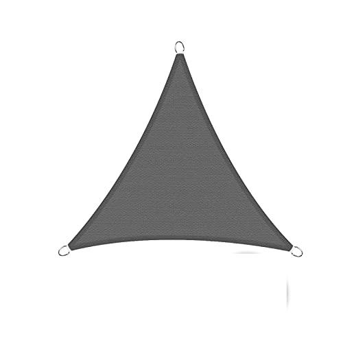 Sunnylaxx Vela de Sombra Triangular 3.6x3.6x3.6 Metros, toldo Resistente e Impermeable, para Exteriores, jardín, Color Grafito