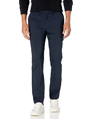 Calvin Klein Men's Move 365 Slim Fit Tech Modern Stretch Chino Wrinkle Resistant Pants, Sky Captain, 34x32