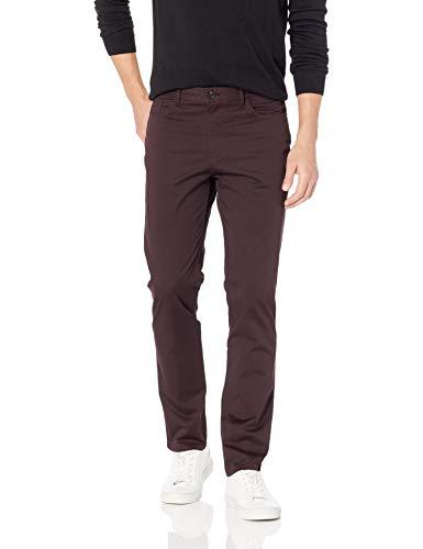 Calvin Klein Men's 5 Pocket Stretch Pant, Wine Tasting, 30x30