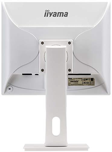 iiyama ProLite B1980SD-W1 48cm (19 Zoll) LED-Monitor SXGA (VGA, DVI, Höhenverstellung, Pivot) weiß
