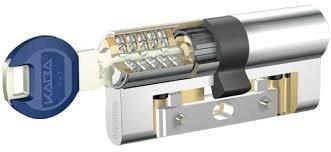 Kaba Expert Zylinderschloss, Lamelleneinsatz, goldfarben, 30x30mm, 5Schlüssel