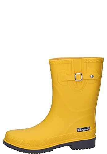 Bockstiegel Damen Gummistiefel Lotte-K halbhoher Regenstiefel, Farbe:gelb, Größe:38 EU