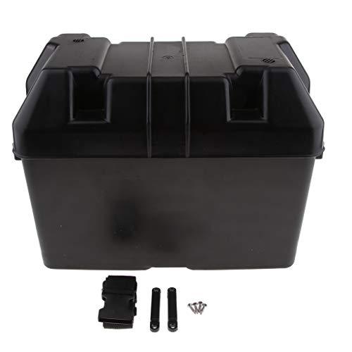 perfk 1 Stück Batteriekasten Batteriekasten Batteriegehäuse mit 2 Entlüftungsöffnung Oben
