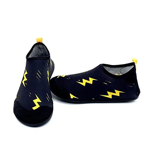 ZHJIUXING ST Water Shoes, Hombres Mujeres Pies,Descalzo acuático Calcetines de Buceo, Calzado de natación de Secado rápido para Snorkel Surf Piscina Playa Deportes, B, XXL
