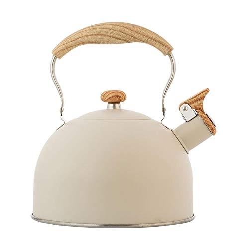 LUHUN Stufa Top Whistling tè Bollitore da tè 2.5 Quart Classico Teiera Aspetto Grado Culinario Teiera in Acciaio Inox Teiera Processo Composito Fondo