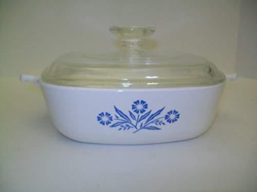 Vintage Corning Ware - Cornflower/Corn Flower - 1 Quart Casserole w/Lid P-1-B
