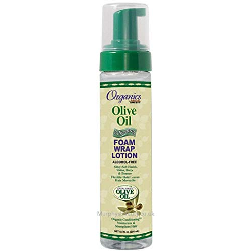 Africa's Best Org Olive Oil Foam Wrap Lotion, 8.5 Ounce