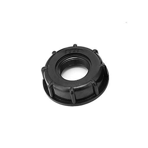 BE-TOOL IBC Wassertank-Adapter, 1 Stück, 2,5 cm IBC-Anschluss, 60 mm Grobgewinde-Auslass für 1000 Liter Tonnen Fässer, IBC-Fässer etc.