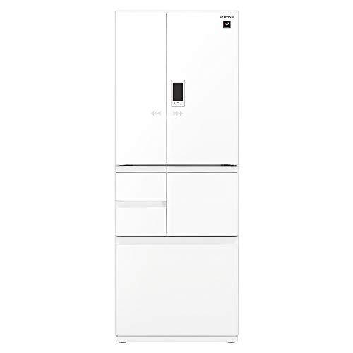 シャープ SHARP 冷蔵庫 プラズマクラスター(幅68.5cm) 502L ガラスドア/電動フレンチドア(観音開き) メガフリーザー 6ドア ピュアホワイト SJ-AF50F-W