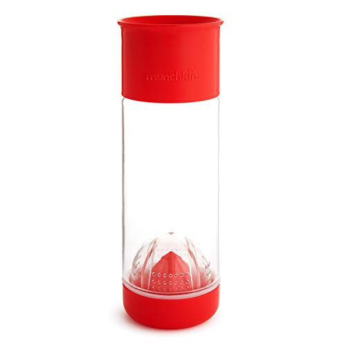 Munchkin Miracle 360 Fruit Infuser Water Bottle, 20 Ounce, Red