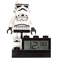 """LEGO Minifigura de Soldado de Asalto con Reloj sobre Base con Sonido característico Star Wars, Blanco, 6""""/15 cm"""