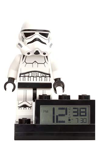 LEGO Minifigura de Soldado de Asalto con Reloj sobre Base con Sonido característico Star Wars, Blanco, 6'/15 cm