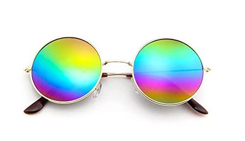 Diseñador De Marca, Gafas De Sol Redondas Clásicas para Hombre, Pequeñas, Vintage, Retro, John Lennon, Gafas para Mujer, Gafas De Conducción De Metal, Colores