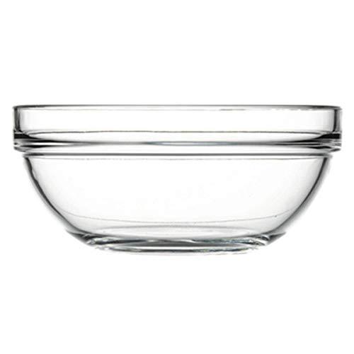 Giosal Coppa Chef's Vetro Ciotola Vetro Trasparente Varie Dimensioni Insalatiera Cucina PAS53923-30 cm