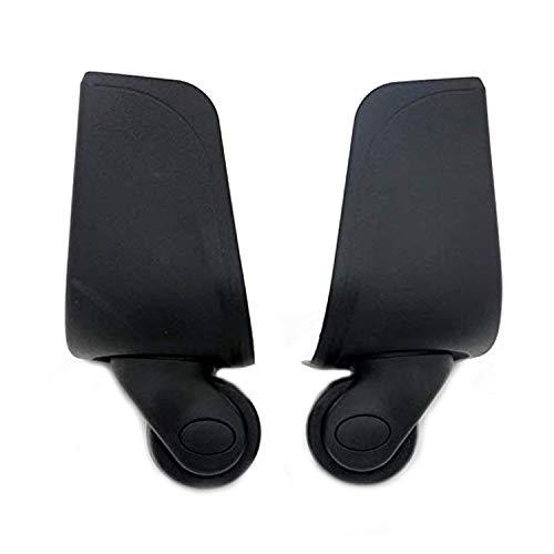 スーツケースに使えるホイール 代用品 交換 静音 キャスター スーツケースキャリーボックスなどの車輪補修用 取替え 取替え DIY トラベルバッグラゲッジ修理 (W001 (後ろのホイール(左と右)1ペア)