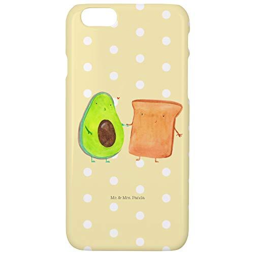 Mr. & Mrs. Panda cubierta, funda, Iphone 6 / 6S Funda para teléfono móvil Aguacate y tostada - Color Pastel amarillo
