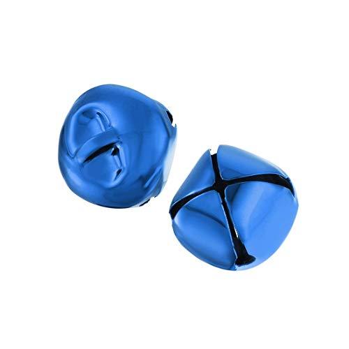 DyniLao Jingle Bells, 20mm / 0.79 inch 40pcs, Craft Bells Bulk DIY Bells for Christmas Festival Decoration Party Home, Royal Blue
