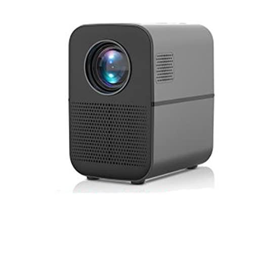 tyui Proyector, Proyector de escritorio portátil casero al aire libre, Proyector de teléfono móvil de oficina inteligente Hd Home Home Hd, LED para teatro