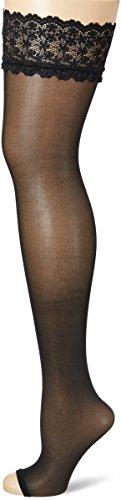 Fiore Damen ELUXA/GOLDEN LINE CLASSIC Halterlose Strümpfe, 20 DEN, Schwarz (Black 001), Small (Herstellergröße:2)