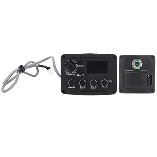 Accesorios Para Instrumentos Musicales, Captación De Sonido Ajustable Pantalla LCD Negra De Cuatro Segmentos Para Preamplificador Magnético Para Profesores