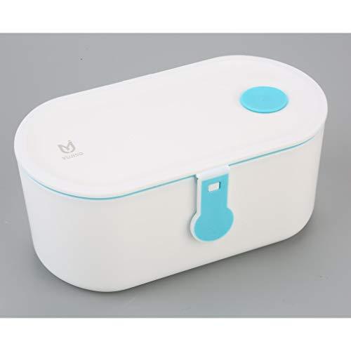 CandyTT Herramientas de Belleza Que se vuelven más Hermosas, diseño Limpio, exquisitamente Fascinante, Caja de bento de FES de 800 ml (Azul)