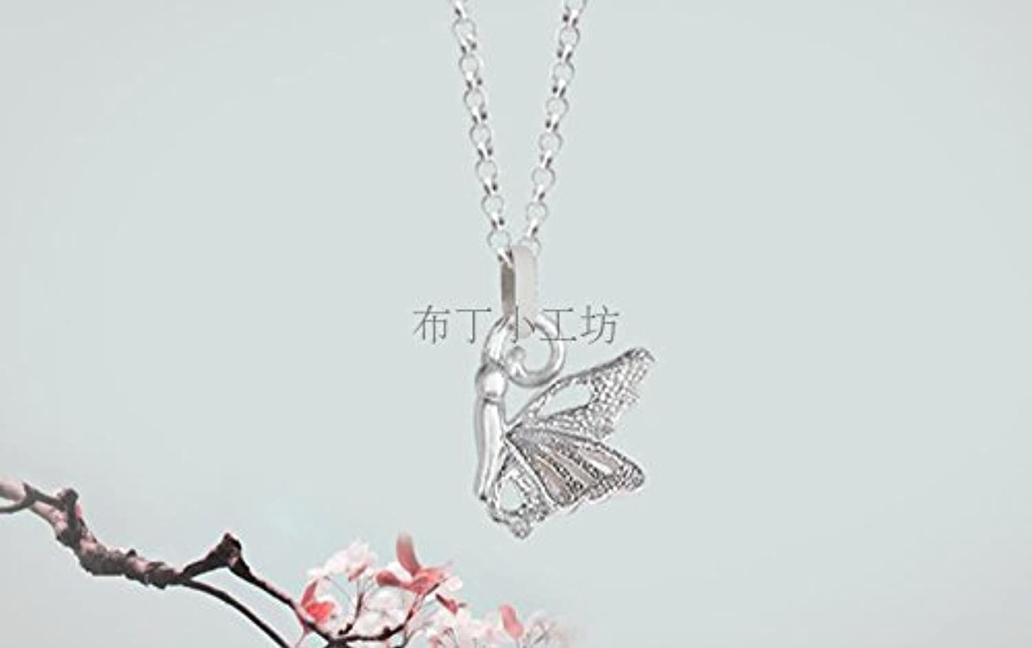 7925 Silver Jewelry Sweet Temperament Hollow Butterfly Silver Handmade Silver Foot Chain Anklets Girlfriends