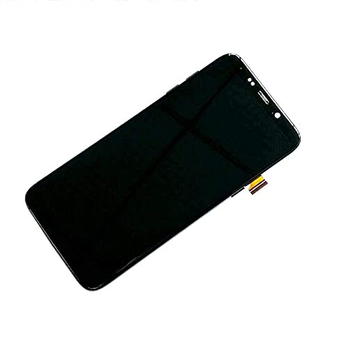 DDBAKT Ajuste para Bluboo S8 Plus / S8 Pantalla LCD Sensor de pantalla táctil Asamblea con marco 100% probado trabajo S8Plus pantalla parte (color negro con marco) (color negro sin marco)