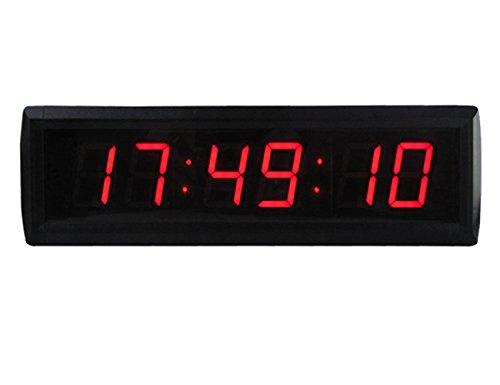 Gan Xin 4,6cm Clock Custom LED a 6cifre 7segmenti LED display per 12/24h vera disco orario, count Up conto alla rovescia, dimensioni: 340mm x 100mm x 40mm