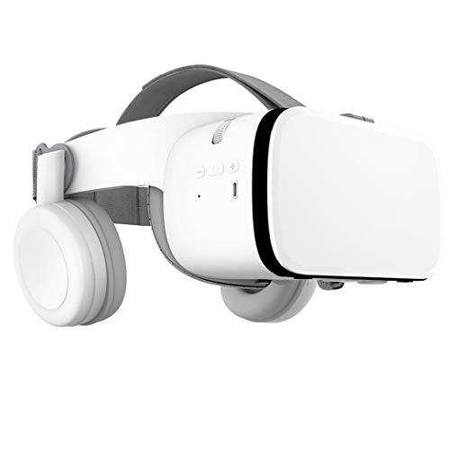 JCSW VR Brille, 3D Brille, 110°FOV, Geeignet 4,7-6,3 Zoll Smartphone Handy mit Bluetooth Controller für iPhone 12/11/X/Xs/Max/8P/7P/8/7, Samsung S10/S9/S8/Note 10/9/8/Plus, O009XB