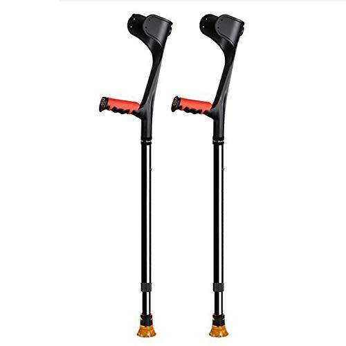 Muletas axilares para Adultos muletas de antebrazo muletas de Aluminio ultraligeras de Asistencia Regulable en Altura (74-97 cm) con Mango cómodo-2 Piezas Azul FAYGZ ⭐