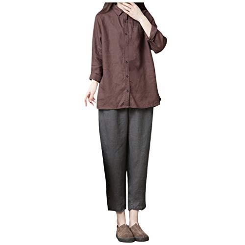 Buy Bargain Litetao 2XL Gray 58536 (Women's Comfy Casual Pajama Pants Floral Print Drawstring Lounge...