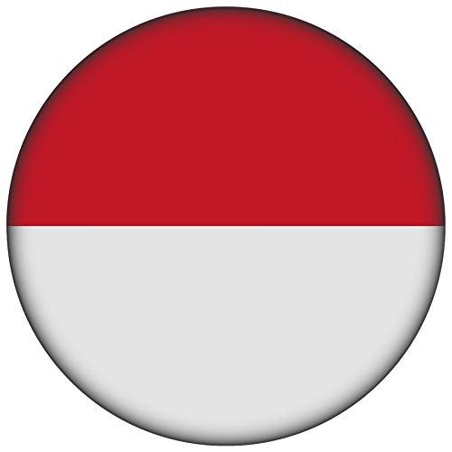 FanShirts4u Button/Badge/Pin - I Love MONACO Fahne Flagge (Monaco/Flagge)
