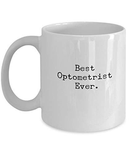 Bester Optiker aller Zeiten. Keramische weiße Kaffeetasse 11OZ (zweifarbig erhältlich) + kostenlose Geschenkbox