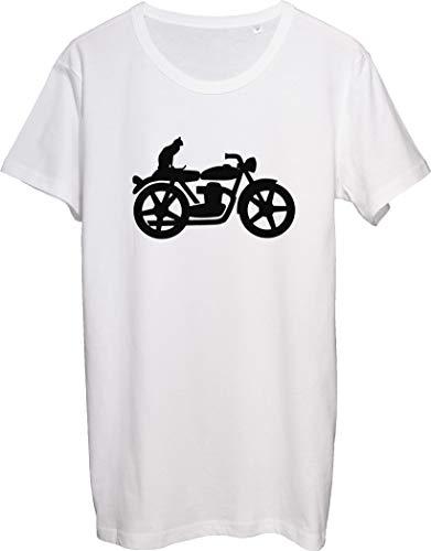 Elegante gato en la motocicleta diseño camiseta de los hombres bnft