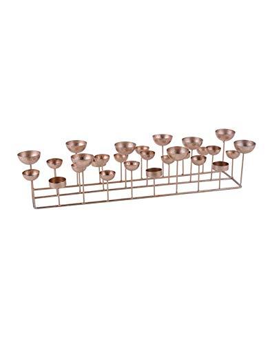 Gift Company Kerzenhalter Kerzenleuchter Kerzenständer Medusa rechteckig rosé Gold