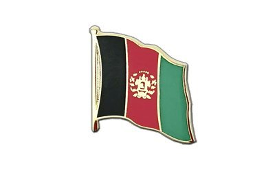 Afghanistan Flaggen Pin, afghanische Fahne 2x2cm, MaxFlags®