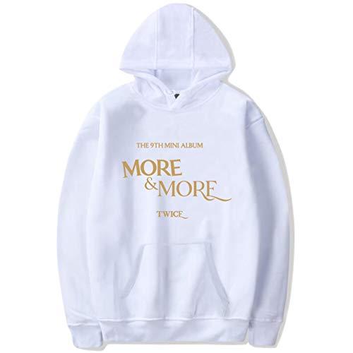 NCTCITY Unisex Kapuzenpullover Freizeit Langarm Hoodies Streetwear Sweater KPOP Twice More & More Bedrucken Tops Mantel Herbst Winter