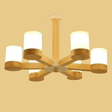 Moderne plafondlamp hanglamp Lightmyself kroonluchter van glas met 6 lampen, modern, klassiek, Land van hout, vintage, karakteristiek voor woonkamer, slaapkamer, eetkamer
