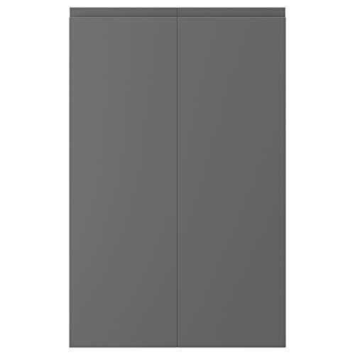 "IKEA VOXTORP 2-p puerta f esquina base gabinete conjunto 10x31"" mano derecha gris oscuro"
