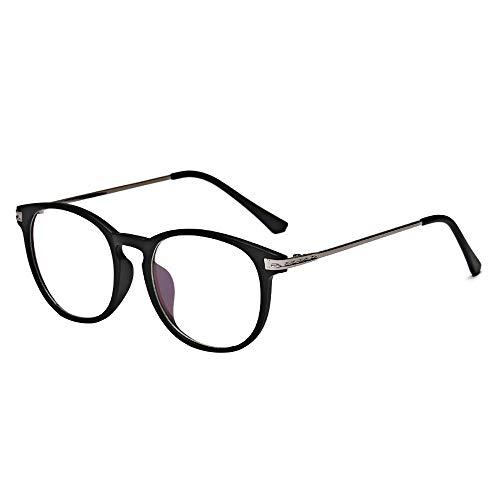 BOZEVON Gafas con Filtro de luz Azul - Gafas de Lectura para Protección UV Computadora Anti-fatiga Ocular Gafas para Juegos Gafas para TV para Mujeres Hombres, Arena Negra A, Luz anti-azul