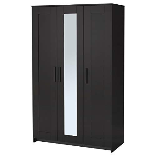 IKEA BRIMNES - Armario con 3 puertas, color negro