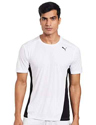 Puma Cross The Line tee Camiseta, Hombre, White Black, L
