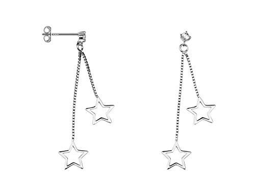 SOFIA MILANI - Damen Ohrringe 925 Silber - Ohrstecker als Stern - 20503